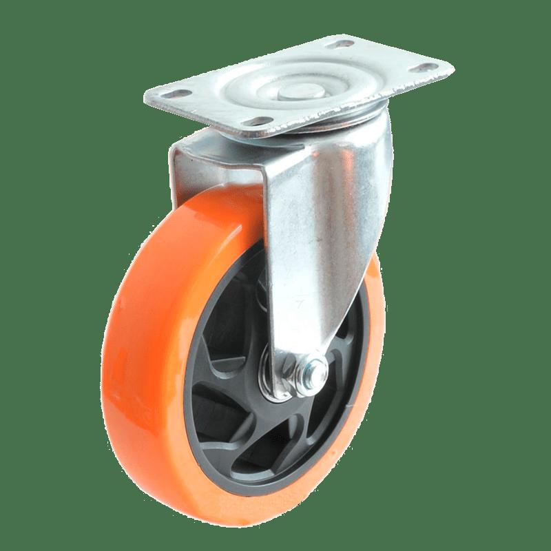 Колесо SCp 55 PVC полиуретановое поворотное PVC (Medium)