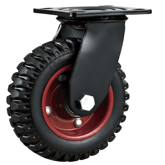 Колесо PRS 160 большегрузное рифленое поворотное