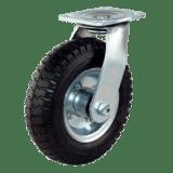 Колесо пневматическое поворотное рифленое SC 80 (ПНЕВМ)