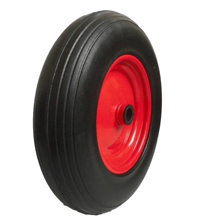 Колесо вспененный полиуретан (металлический диск) PU3018 12мм