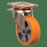 Колесо ED01 ABP 200 F полиуретановое с тормозом