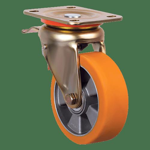 Колесо с тормозом полиуретановое