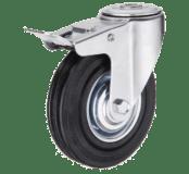 Промышленное колесо SChb 63 поворотное под болт с тормозом
