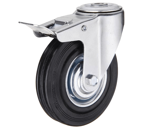 Промышленное колесо SChb 80 поворотное под болт с тормозом