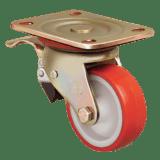 Колесо ED01 ZBP 150 F полиуретановое поворотное с тормозом