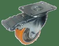 Колесо SCpb 55 M полиуретановое поворотное с тормозом (Medium)