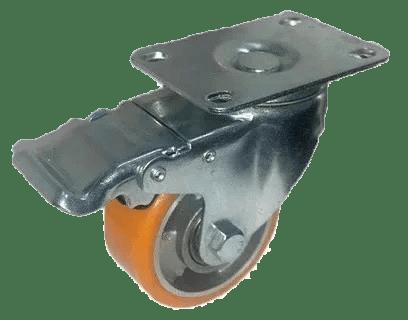 Колесо SCpb 93 M полиуретановое поворотное с тормозом (Medium)